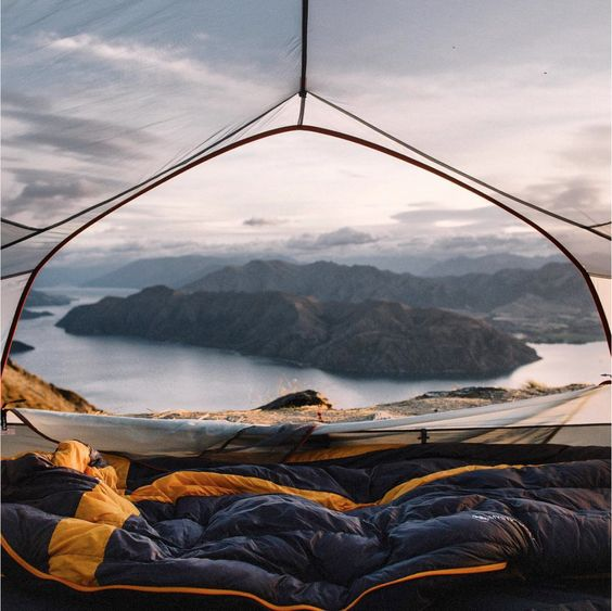 Magic view from the Tent #outdoor #camp