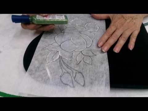 Como Transferir Diseno Para Tela Con Lapiz Youtube Dibujos En Tela Clases De Pintura Acrilica Tela Negra