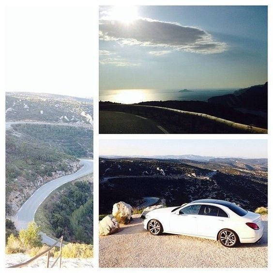 #regram from @Motor Trend: Enjoying a little bit'o'roadporn in the all new C-Class #mercedesbenz #cclass #cassis #france