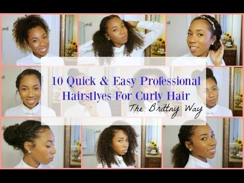 10 Cute Professional Hairstyles For Natural Curly Hair Tutorial 3c 4a 4b Easy Professional Hairstyles Job Interview Hairstyles Curly Hair Styles