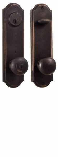 Weslock Entry Handleset Molten Bronze Tramore Single Cylinder Deadbolt Keylock