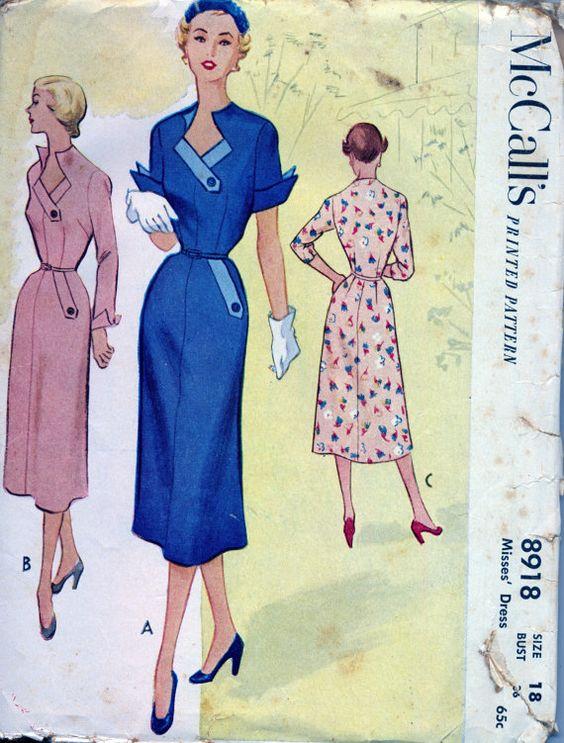 vintage 1950s womens dress pattern by atomicregeneration