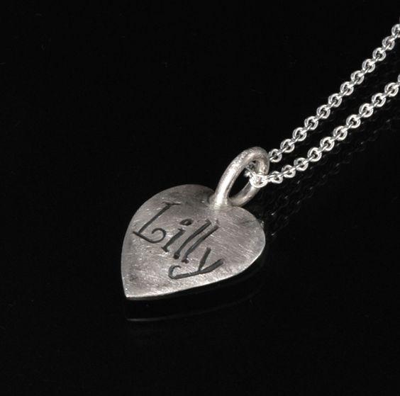 """Anhänger """"Herz"""" - 925er Silber von Vanessa May - Unikatschmuck auf DaWanda.com"""