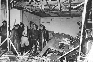 On 20 July 1944, an attempt was made to assassinate Adolf Hitler, Führer of the Third Reich, inside his Wolf's Lair field headquarters near Rastenburg, East Prussia. The plot was the culmination of the efforts of several groups in the German Resistance to overthrow the Nazi-led German government. The failure of both the assassination and the military coup d'état which was planned to follow it led to the arrest of at least 7,000 people by the Gestapo.: History Mostly Wwii, Ww2 Germany, Assassinate Adolf, History Wwii, 20 July, Adolf Hitler, Wwii Hitler, Ww2 1944