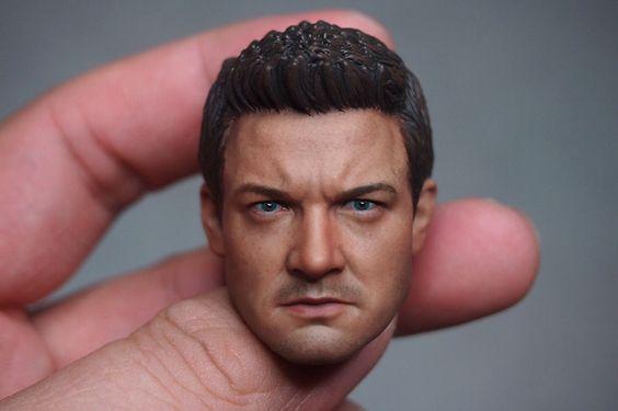 IN STOCK Custom 1/6 Scale Jeremy Renner 2.0 Head Sculpt For Hawkeye Custume
