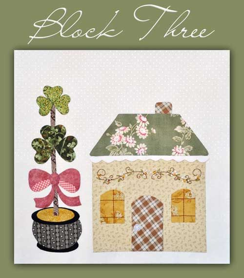 6 Houses (Blocks)-couldn't find this on her site - use for IDEA - March with shamrocks