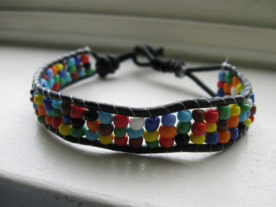 Crazy Fun Beaded Wrap Bracelet/Anklet by tailoredhope on Etsy, $18.50