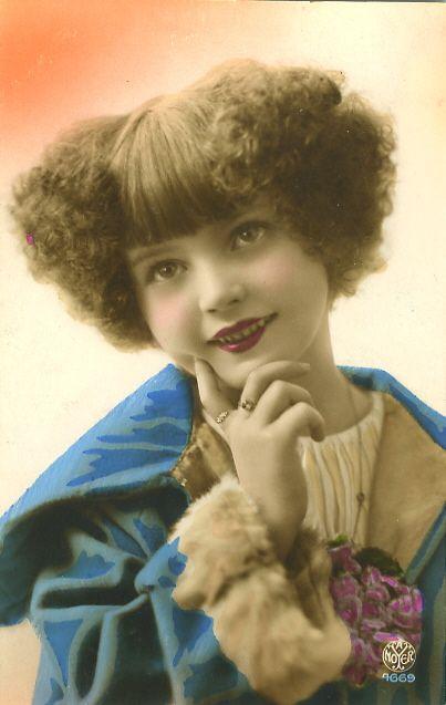 Vintage ~ tinted child photo...