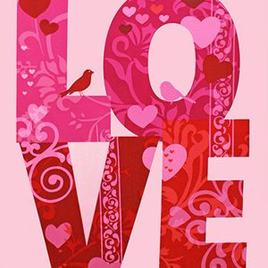 Amy Biggers - Love - Love Panel in Pink