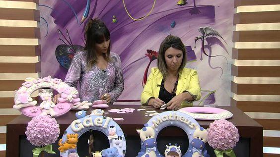 Mulher.com 27/06/2014 - Guirlanda Porta Maternidade por Karina Raszl