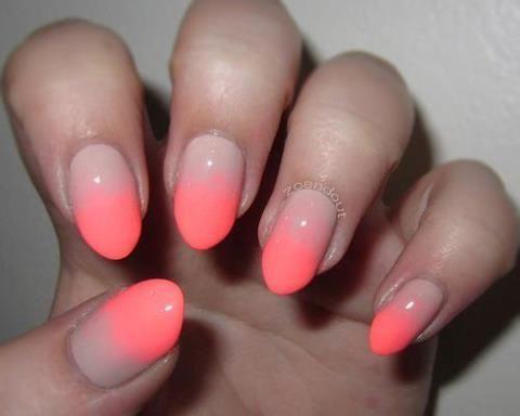 Ombre Neon #nail #art
