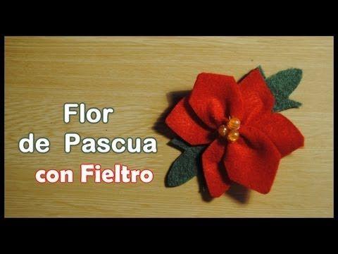Christmas flowers flower tutorial and manualidades on - Manualidades con fieltro para navidad ...