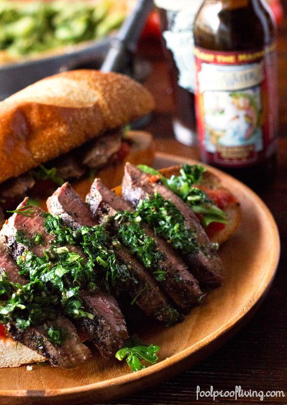 Chimichurri Steak Sandwich   Recipe   Skirts, The o'jays ...