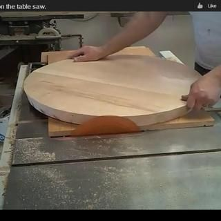 How To Cut Large Circles On The Table Saw Circles Woodworking Plans And My Website