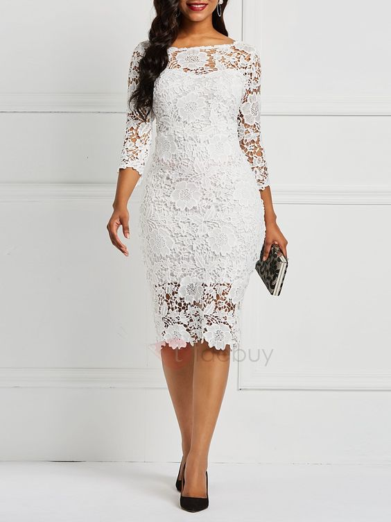 Tidebuy.com Offers High Quality Hollow Pullover Patchwork Floral Women's Lace Dress, We have more styles for Lace Dresses