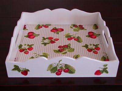 Bell'Arte - Arte em madeira e tecido: frutas vermelhas