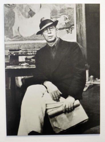 A photo of Henry Miller taken in Abraham Rattner's New York studio…