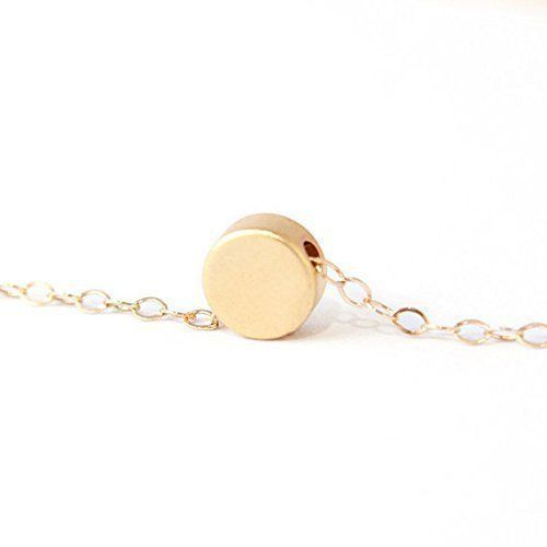 Petite Handmade Gold Dot Necklace
