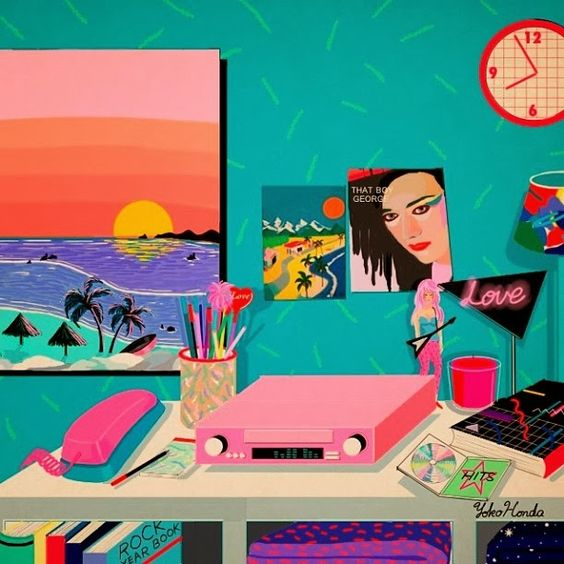 Yoko Honda · Illustration . 80's inspired artwork
