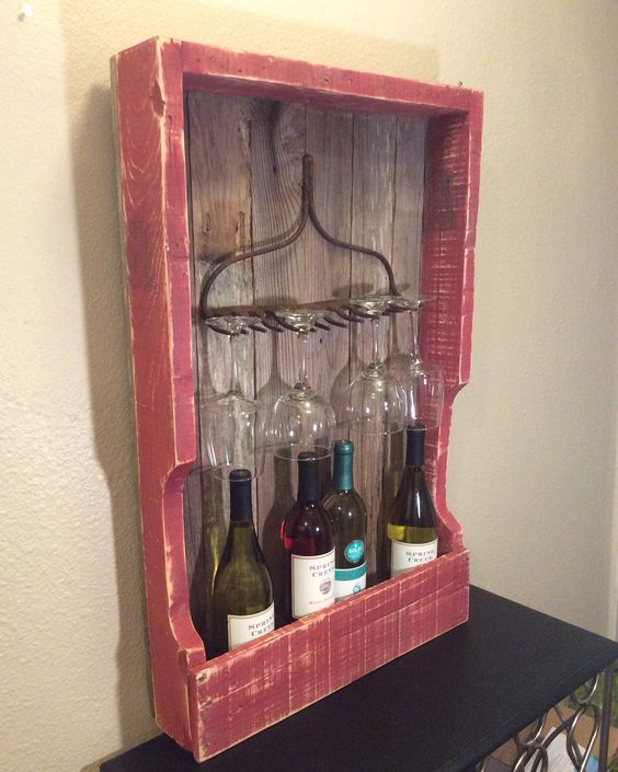 Rustic Wine Racks Pallet Wood And Wine Racks On Pinterest