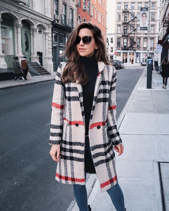 statement coats plaid adorable coat