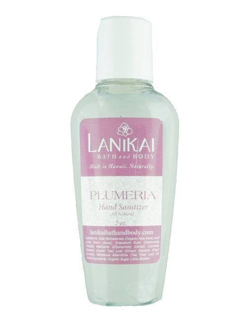 Lanikai Bath And Body Eco Hand Sanitizers 2 Oz Plumeria Hand