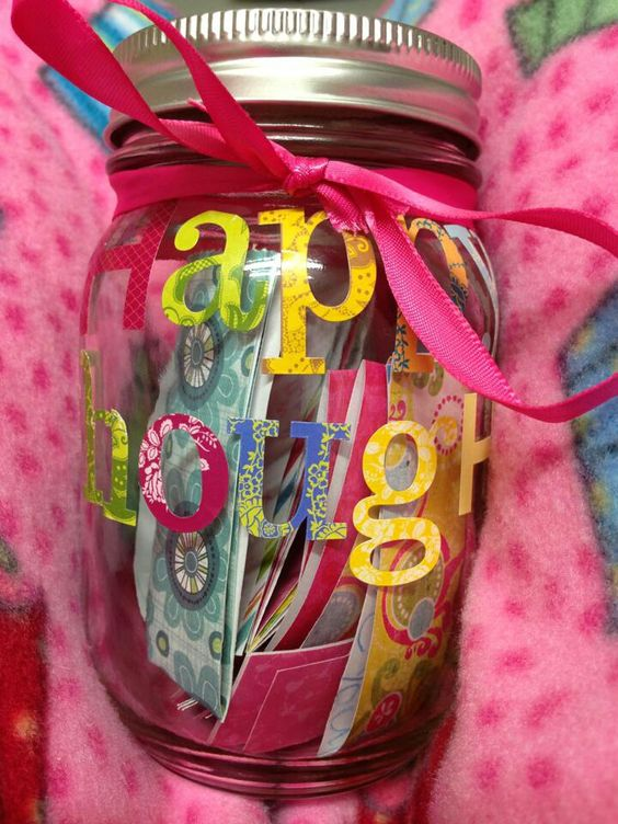 Happy thoughts jar. For the friend that needs cheering up.
