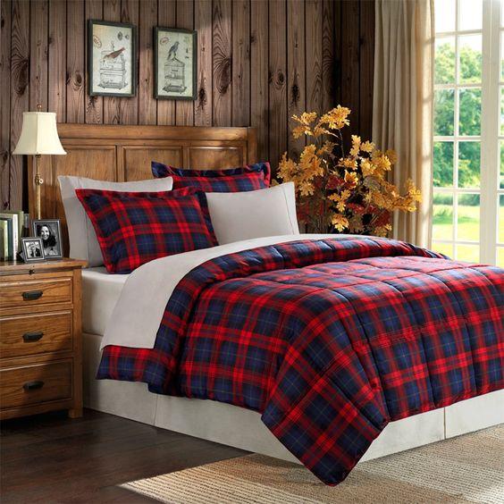 Premier Comfort MacLachlan Plaid Down Alternative Microfiber 3 Piece Comforter Set