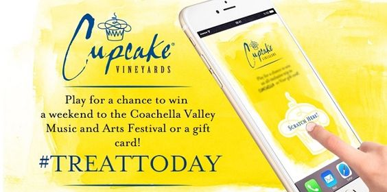 It's back for 2016! Enter the CUPCAKE VINEYARDS Treat Today Instant Win Game and Sweepstakes for the chance to win a trip to Coachella. You could also be one of the 20 winners of a …