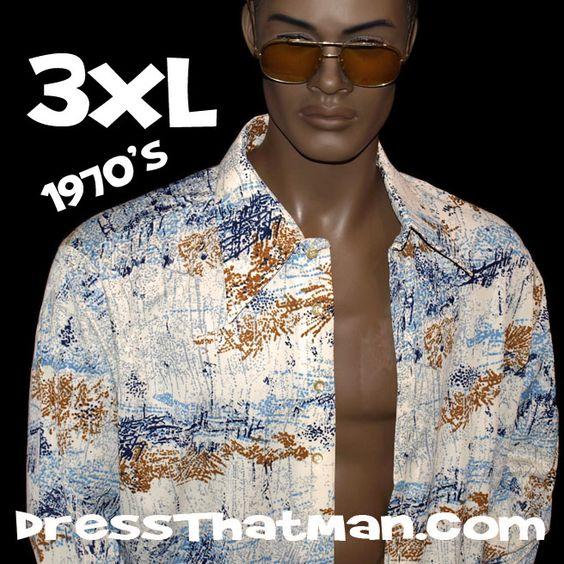 3XL authentic vintage UNWORN disco shirt