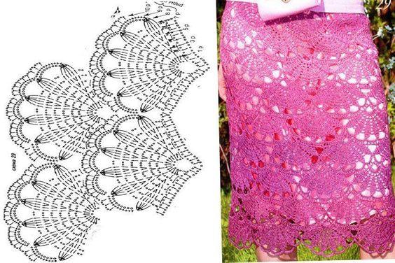 Crochet Fan Skirt Stitch and Pattern ⋆ Crochet Kingdom