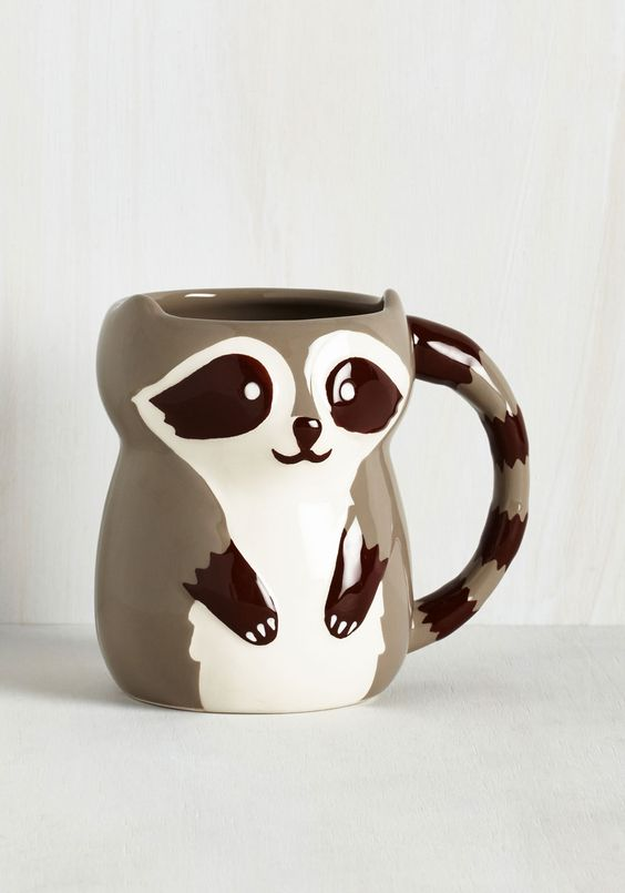 Bandit Together Mug - Multi, Multi, Critters, Woodland Creature, Good, Fall