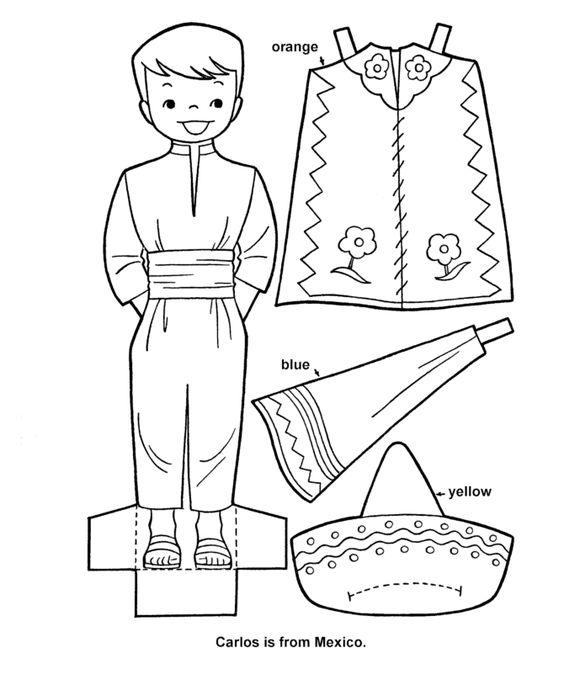 Printable cutout paper doll sheet