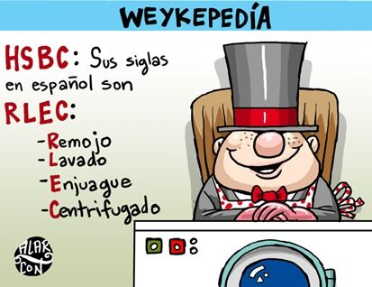Opinión Cartones - HSBC por sus siglas en español, de la Morralla de El Financiero
