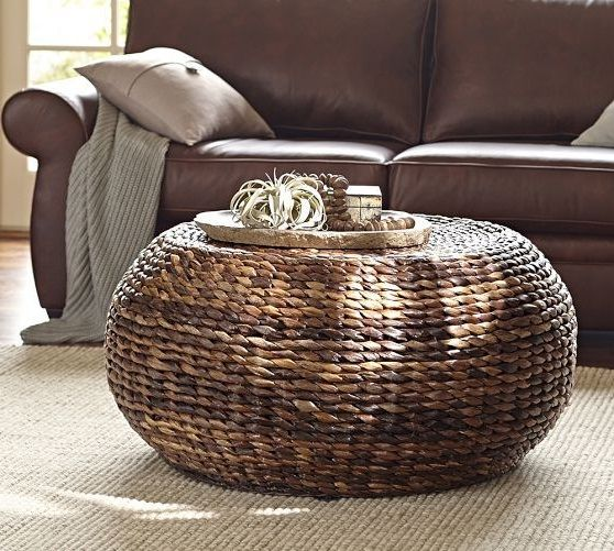 Marvelous Round Seagrass Coffee Table Round Woven Seagrass