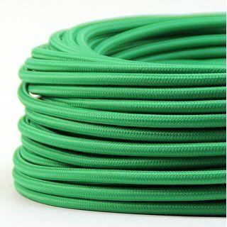 Textilkabel Stoffkabel Grun 3 Adrig 3x0 75 Gummischlauchleitung 3g 0 75 H03vv F Textilummantelt Textilkabel Kabel Und Stoffe