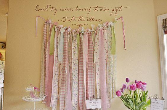 ribbon wall decoration