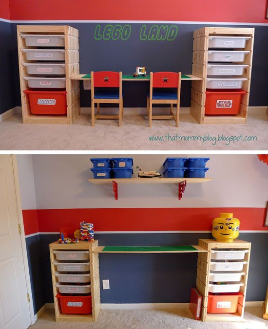 IKEA HACKS - Adjustable height Lego playtable and storage unit from Trofast: BEST lego table EVER!!