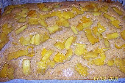 Dinkel Obst Kuchen vom Blech