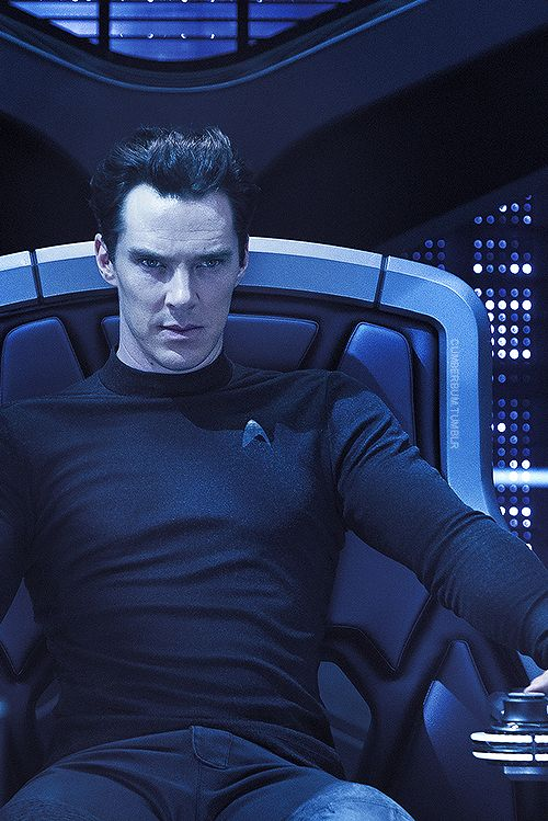 Khan (Benedict Cumberbatch) -  Star Trek Into Darkness. I watched this and what they did to Khan made me so sad, I will probably never watch it again