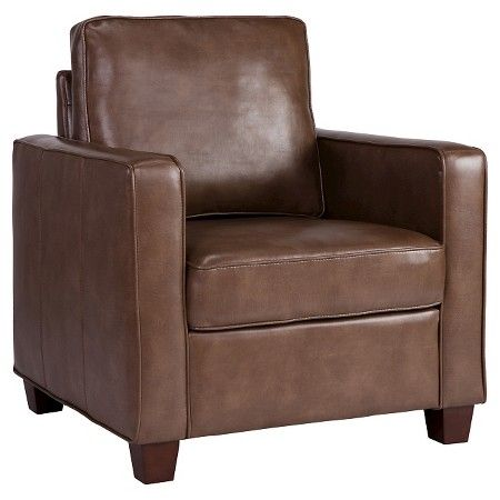 Square Arm Bonded Leather Chair - Threshold™