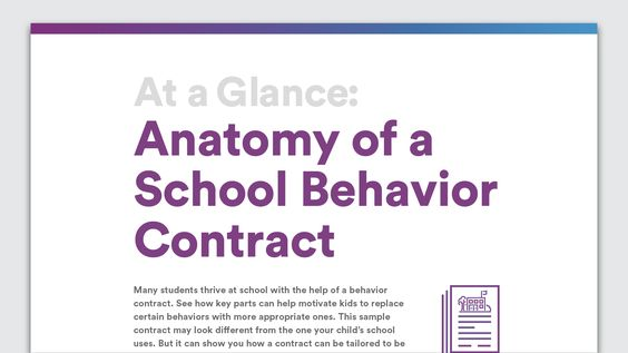 At a Glance Anatomy of an Effective Email to Your Childu0027s Teacher - sample behavior contract