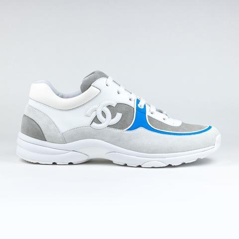 Chanel CC Logo White Blue Sneaker
