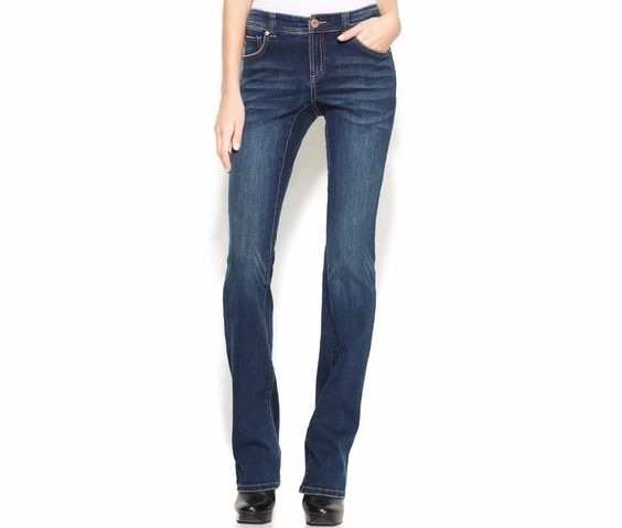INC womens jeans curvy fit bootcut leg percy wash low rise short ...