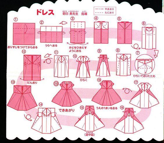 Robe de papier cr ation pinterest origami robe origami et robes - Robe en origami ...
