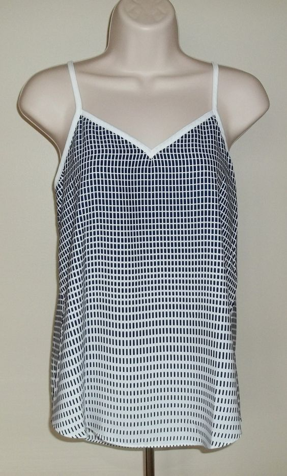 """March 2016 Stitch Fix. Pixley Glenoaks V Neck Top in Navy/White, it's 100% Polyester and measures 26"""" long.  https://www.stitchfix.com/referral/4292370"""