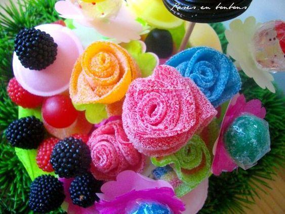 comment réaliser un bouquet de fleurs en bonbons