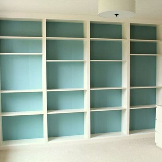 La billy fa on grande biblioth que murale diy - Etagere murale angle ikea ...