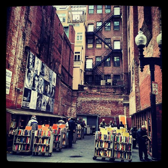 Brattle Book Shop, a Boston bookstore with an outside sale lot, by crystal_miller via Flickr