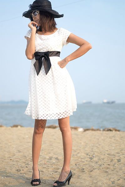 Image detail for -Luxurious Perforated Lacey White Dress - Malaysia Online Boutique ...
